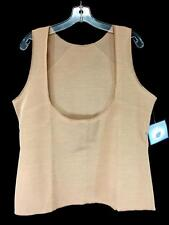 NEW nude SUZANNE SOMERS COLLECTION body shaper shapewear tank open bust plus 3X