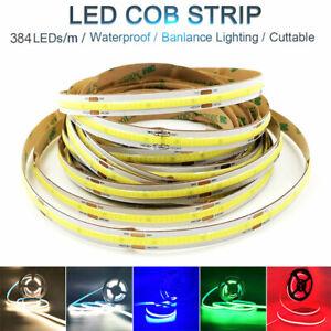 DC12V/24V Waterproof COB Flex LED Strip Rope Lights for Home Xmas Holiday Decor