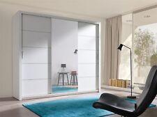 Armoire avec portes coulissantes Armoire Oslo Blanc Mat + miroir 250x215 cm