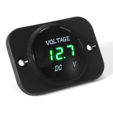 Green LED Display 12V-24V Car Motorcycle Gauge Voltmeter Battery Monitor MA1442
