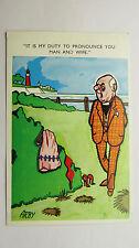 1960s Risque Comic Postcard Vicar Beach Wedding Outdoor Sex Red Bra Lingerie
