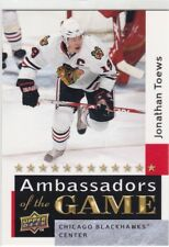 JONATHAN TOEWS 2009-10 UPPER DECK 2 AMBASSADORS OF THE GAME SP #AG52 CHICAGO
