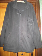"FLEECE size XL (Full front zip) Espace (colour BLACK) approx 52"" chest"