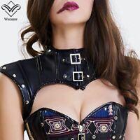 Steampunk Leather Corset Crop Tops Punk Gothic Style Retro Custom Plus Size