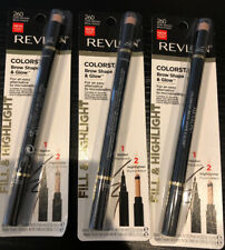3 Revlon Colorstay Shape & Glow Eye Brow Marker and Highlighter Dark Brown 260