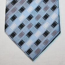 NEW Knightsbridge Silk Neck Tie Light Blue w Gray, Black and White Pattern 1533