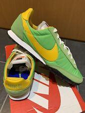 Nike Waffle Racer UK 8.5 E 43 Retro Runners Green Yellow Tailwind 79 Vortex VRTX