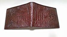 Genuine Crocodile Leather Bi-fold Wallet