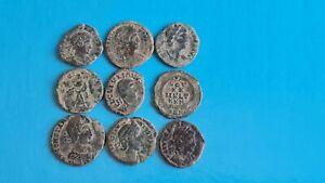 LOTE DE 9 MONEDAS ROMANAS CON MUCHA LINPIESA 630A