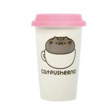 Pusheen The Cat Ceramic Travel Mug Catpusheeno Licenced