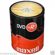 100 DVD -R Maxell vergini STOCK 4.7GB 120MIN 16X SHRINK + 1cd verbatim 275733