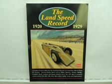 New The Land Speed Record 1920 1929 By R.M. Clark B4v