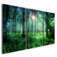 Stampe su tela trittico Greenwood quadri moderni paesaggi natura arte ® quality