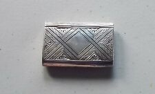 Alfred Taylor Birmingham 1858 Sterling Silver Snuff Box Heavily Decorated Blank