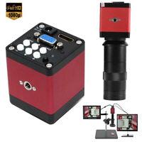 14MP HD 8-130X Zoom Digital Industry Video Microscope Camera C-Mount Lens Set