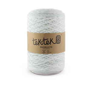 Crafting Cotton 6ply WHITE  New Cotton Knit Crochet Weave 220m washable