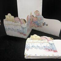 Vtg Michel & Company Hanukkah Cards 12 Blank Children Playing Dreidel Menorah