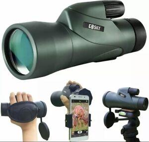 High Definition Monocular Telescope 12X55  & Quick Phone Holder Waterproof