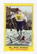 figurina PANINI CAMPIONI DELLO SPORT 1970-71 N. 322 SPORT INVERNALI MARTINSEN
