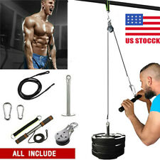 US Fitness Pulley Cable Gym Workout Equipment Machine Attachment System Home DIY
