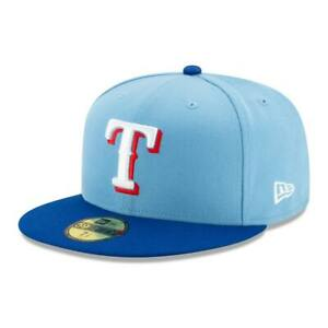 New Era 59Fifty Texas Rangers ALTERNATE 2 Fitted Hat (Light Blue/Royal Blue) Cap