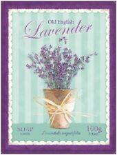 Lavender Soap Bathroom Kitchen Home Shabby Chic Flowers Medium Metal/Tin Sign