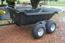 Heavy duty ATV Tipping Trailer 4wheeled 1500lb By Rock Machinery