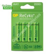 4 x GP Recyko+ AA 2000 mAh Stay Charged Rechargeable Batteries NiMH HR6 LR6