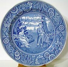 """Spode Blue Room Collection Woodman Dinner Plate 10 1/2"""" Made in England"""