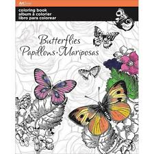 Adult Coloring Book Art Zone Butterfly 8 X 10 Butterflies Flowers
