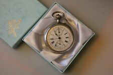 Beautiful Antique White Metal 'Silver' LONGINES Chronograph Pocket Watch c1890.