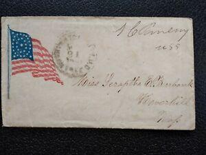 Civil War: Wash, DC (1861) Senator Free Frank Patriotic Cover to Haverhill, Mass