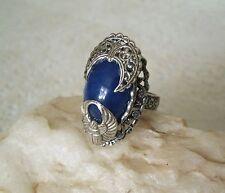 Scarab Ring, lapis victorian edwardian art deco steampunk art nouveau gothic