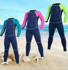 New Boy Girl Kids Children 2mm Long Diving Suit Surfing Scuba Full Body Wetsuits