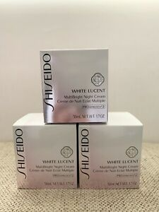 Shiseido WHITE LUCENT MultiBright Night Cream Full Size 50ml / 1.7oz. $92 Retail