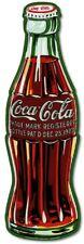 COKE Bottle c1923  Die Cut Embossed Premium Metal Tin Sign Vintage Garage Sign