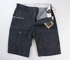 Woolrich Woolen Mills NEW Mens Blue Denim Camper Shorts Size 32 NWT