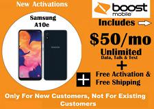 Boost Mobile Samsung Galaxy A10e + 1st Month $50 Unltd talk/text/data plan + FRE