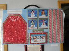 "Children's ""Snow Magic"" Apron Panel By South Seas-Christmas-Cooking-Snowmen"