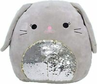 "Squishmallow 12"" Blake Grey Bunny Flip Sequin Super Soft Plush Pillow Pet"