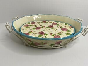 Cassarole Dishes~Temp-Tations~Roses-Oven To Table Bakeware~6 Piece Set~Potluck