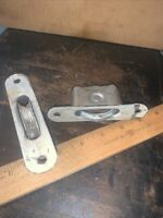 2 Stanley window sash pulleys, Aluminum. Reclaimed Hardware