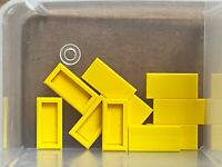 LEGO Parts - Yellow Tile 1 x 2 with Groove - No 3069b - QTY 10