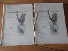 LE 1ER REGIMENT DE ZOUAVES 1852-1895 CAPITAINE GODCHOT 2/2 VOL MUCHA INDOCHINE