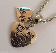 """Perdita di PET CANE / GATTO Memorial """"Paw Stampe sul mio cuore collana con Charms cn99a"""