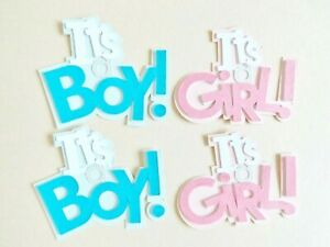 It's A Boy Girl Baby Papercraft Embellishments Scrapbooking Card Making Crafts
