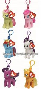 Ty My Little Pony  Key Clips 4 Inches - Choose Your Favourite Soft Plush Toy