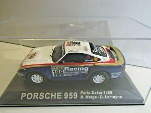 IXO Altaya 1:43 Scale Diecast Porsche 959 Paris Dakar 1986 R.Metge / D.Lemoyne