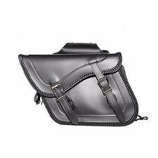 2pc Waterproof Black PVC Motorcycle Saddlebag Luggage Set Touring Travel