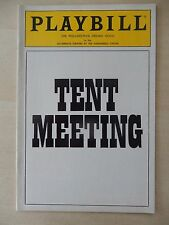 October/November 1985 - Zellerbach Theatre Playbill - Tent Meeting - Levi Lee